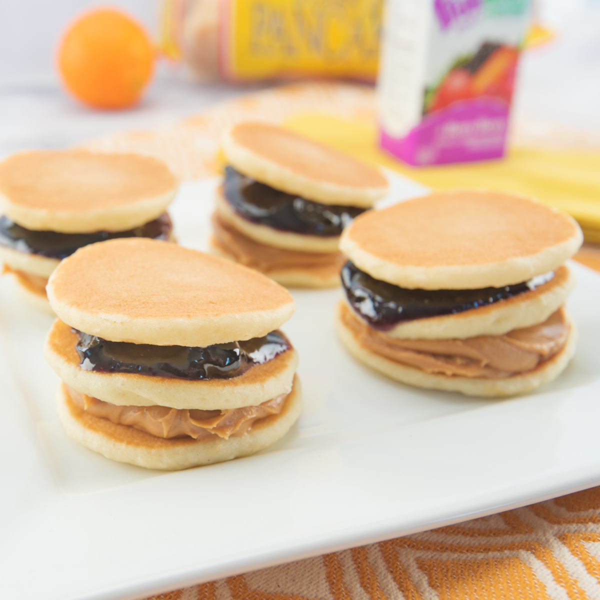PB&J Pancake Stackers - Pinterest