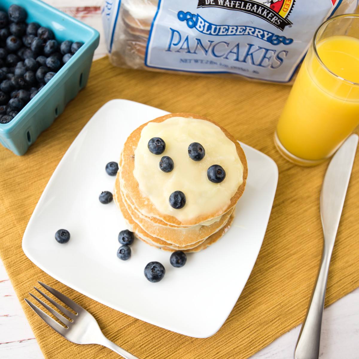 Blueberry & Lemon Curd Stack - Pinterest