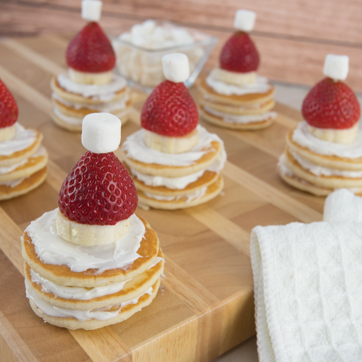 Pancake Santa Hats - View Recipe
