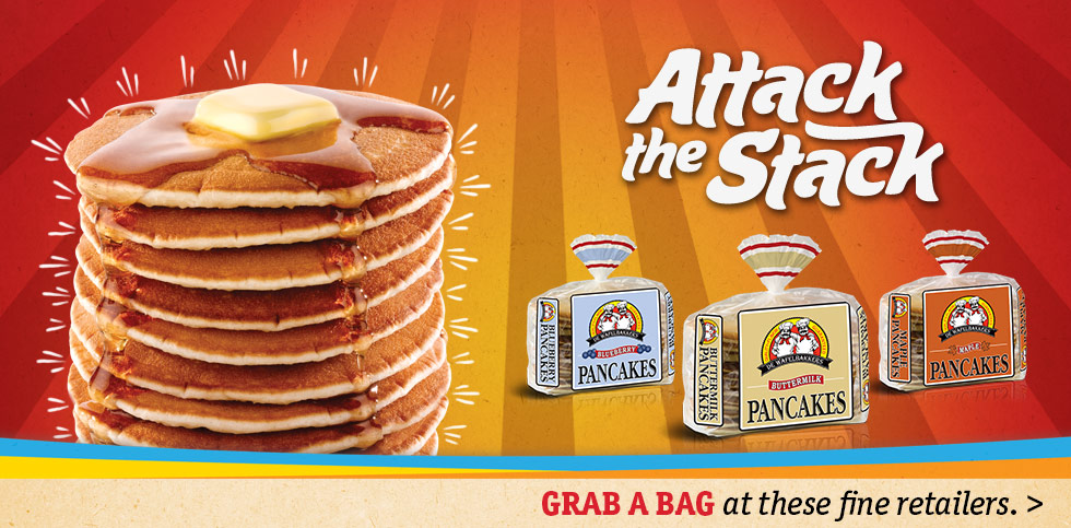 Attack the stack with De Wafelbakkers Frozen Pancakes